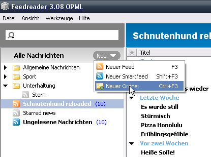 Screenshot Feedreader
